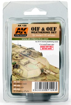 AK Interactive OIF & OEF Modern US Vehicles Acrylic/Enamel Paint Set (121, 122,