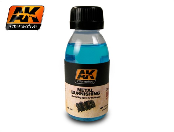 Image 0 of AK Interactive Metal Burnishing Fluid 100ml Bottle