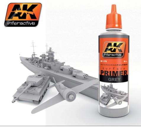 AK Interactive Grey Acrylic Primer 60ml Bottle