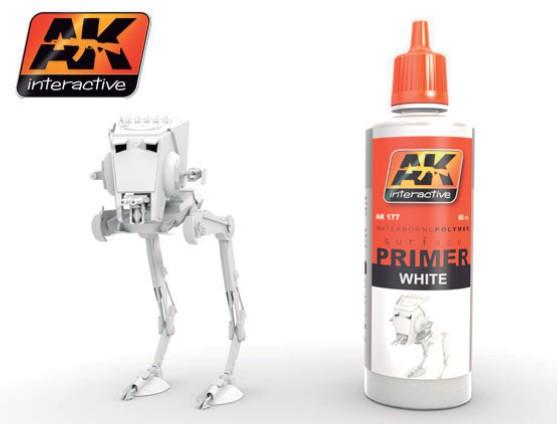 AK Interactive White Acrylic Primer 60ml Bottle