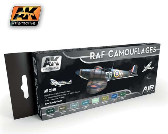 AK Interactive Air Series: RAF Camouflages Acrylic Paint Set (8 Colors) 17ml Bot