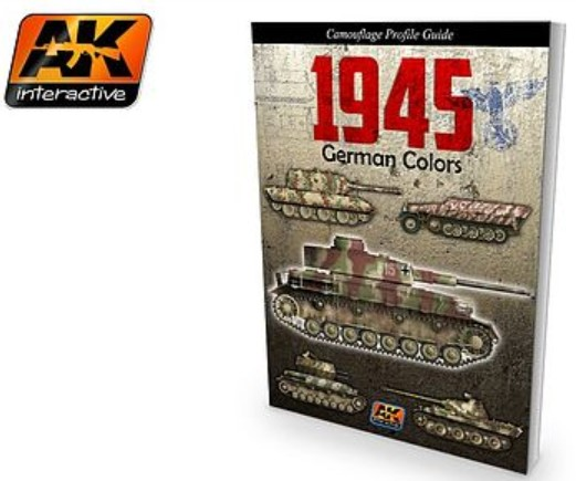 AK Interactive 1945 German Colors Camouflage Profile Guide Book