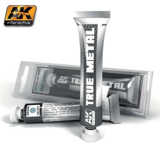 AK Interactive True Metal Wax Silver 20ml Tube