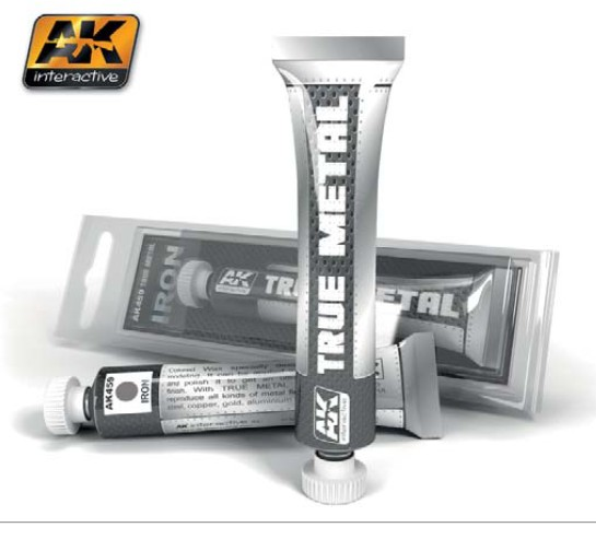 AK Interactive True Metal Wax Iron 20ml Tube