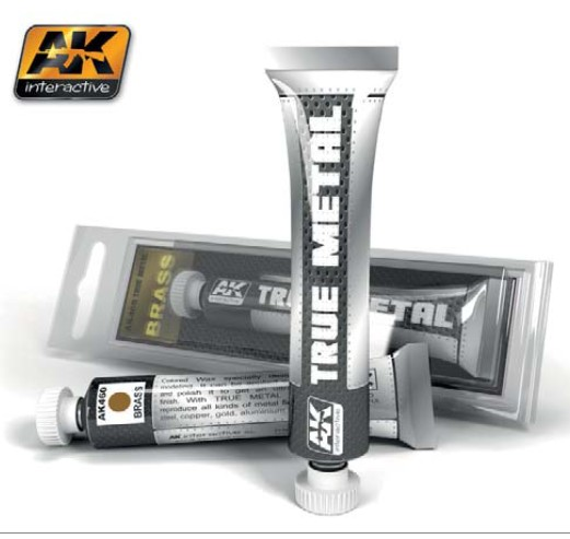 AK Interactive True Metal Wax Brass 20ml Tube