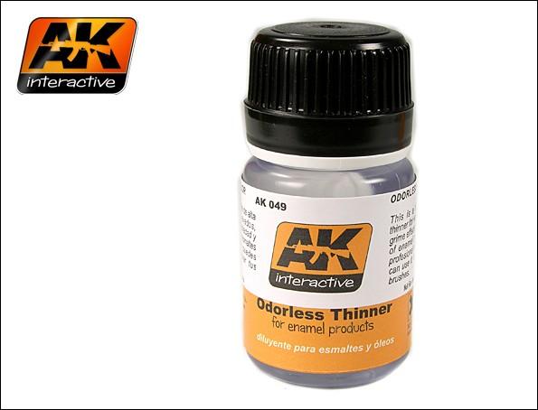 AK Interactive Odorless Enamel Thinner 35ml Bottle