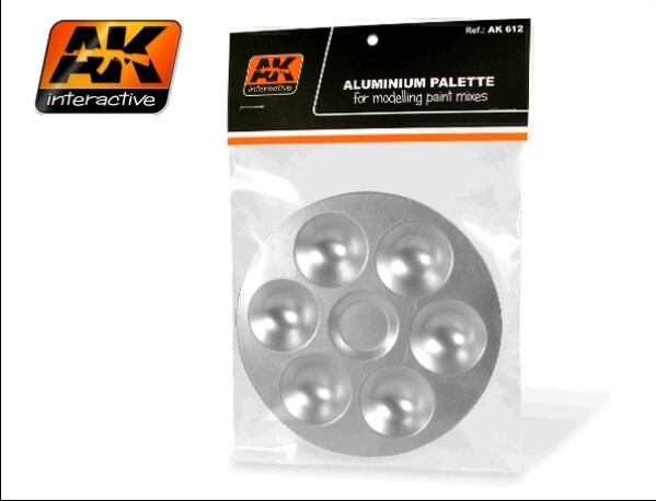 AK Interactive Aluminum Paint Palette 6 Wells