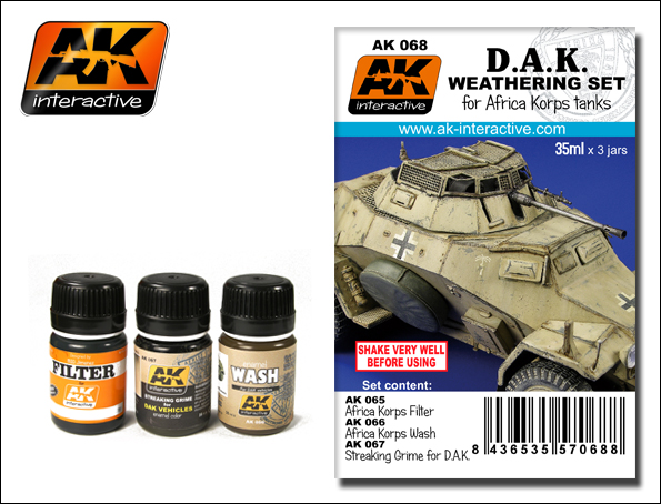 AK Interactive DAK Africa Korps Tanks Enamel Paint Set (65, 66, 67)