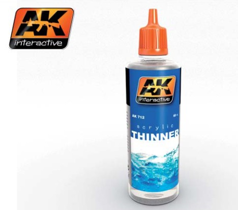 AK Interactive Acrylic Thinner 60ml Bottle