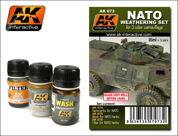 AK Interactive NATO Camouflage Enamel Paint Set (74, 75, 76)