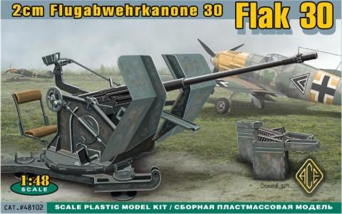 Ace Plastic Models 1/48 2cm Flak 30 Gun