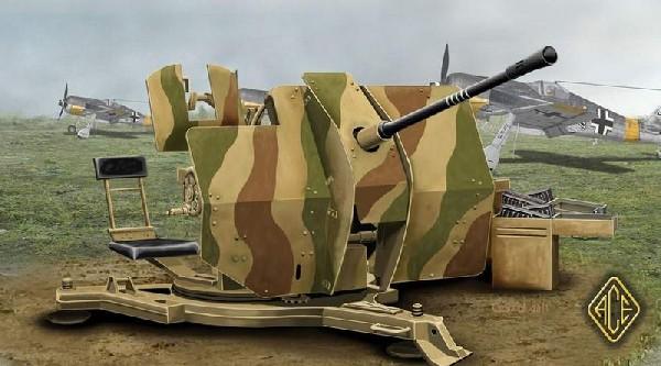 Ace Plastic Models 1/48 2cm Flak 38 Gun