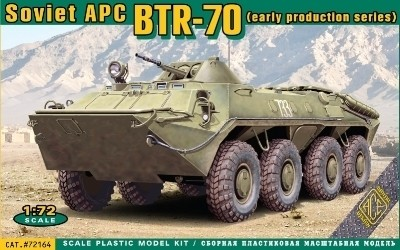 Image 0 of Ace Plastic Models 1/72 BTR70 Early Production Soviet Armored Personnel Carrier