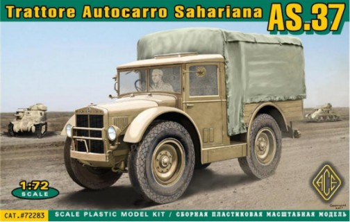 Image 0 of Ace Plastic Models 1/72 AS37 Trattore Autocarro Sahariana