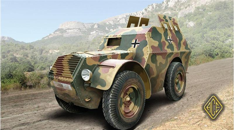 Ace Plastic Models 1/72 Autoprotetto S37 Armored Car