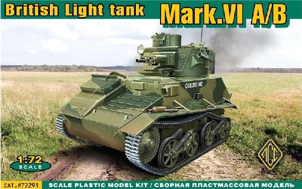 Image 0 of Ace Plastic Models 1/72 British Mark VI A/B Light Tank