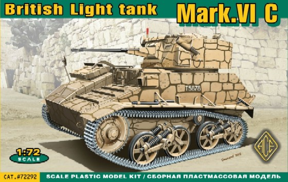Image 0 of Ace Plastic Models 1/72 British Mk VIc Light Tank