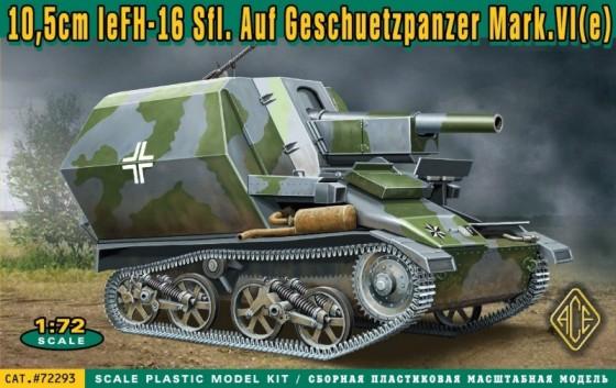Ace Plastic Models 1/72 10,5cm leFH16 Sfl on Geschetzpanzer Mk IV(e)