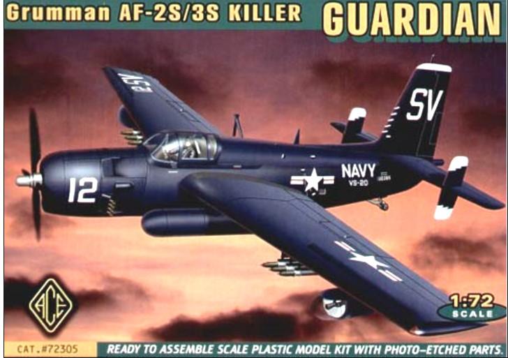 Ace Plastic Models 1/72 AF2S/3S Killer Guardian USN Bomber