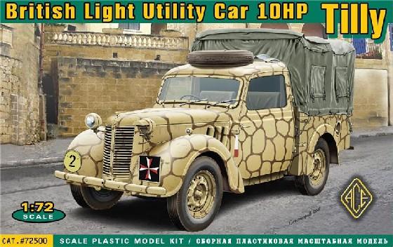 Ace Plastic Models 1/72 British 10hp Tilly Light Utility Car