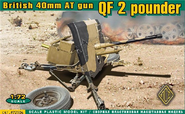 Image 0 of Ace Plastic Models 1/72 British QF 2-Pdr 40mm AT Gun