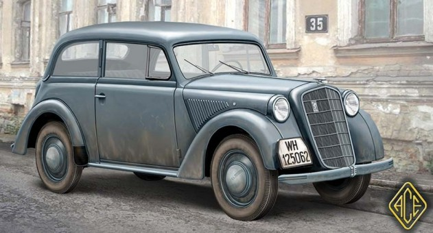 Image 0 of Ace Plastic Models 1/72 Olympia Model 1937 Saloon Staff Car
