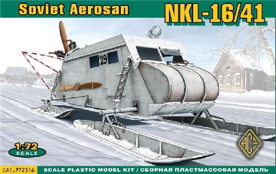 Ace Plastic Models 1/72 Soviet NKL16/41 Armored Aerosan