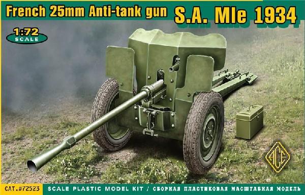 Image 0 of Ace Plastic Models 1/72 French SA Mod 1934 25mm Anti-Tank Gun