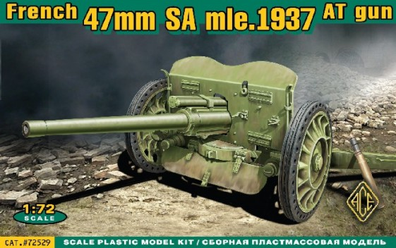 Ace Plastic Models 1/72 French 47mm SA Mod 1937 Anti-Tank Gun