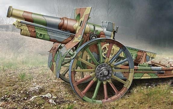 Ace Plastic Models 1/72 Cannon de 155C M1917 French Howitzer Gun w/Wooden-Type W