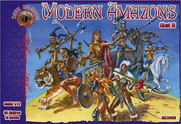 Image 0 of Dark Alliance 1/72 Modern Amazon Figures (40)