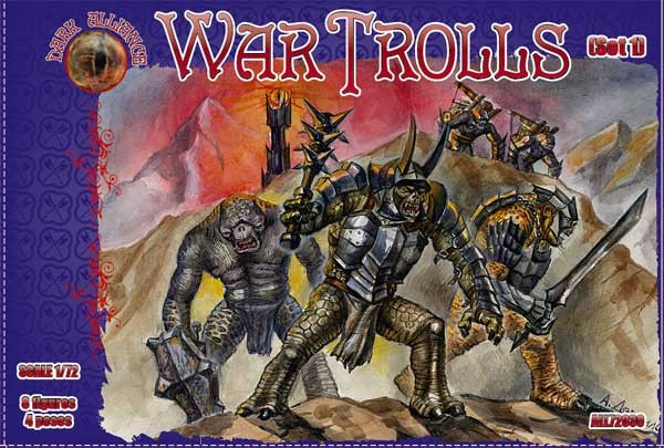 Image 0 of Dark Alliance 1/72 War Trolls Set #1 Figures (8)