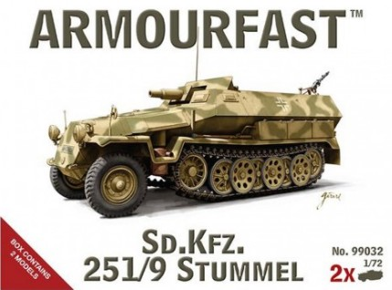 Armourfast 1/72nd Scale SdKfz 251/9 Stummel Tank (2) 99032