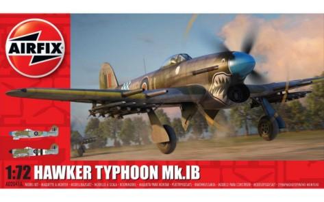 Airfix 1/72 Hawker Typhoon IB Fighter Model Kit