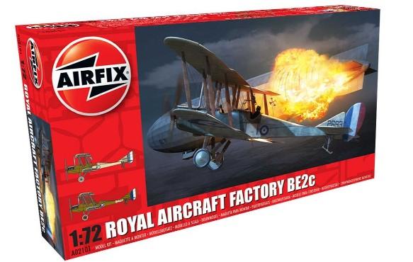 Airfix 1/72 Factory BE2C RAF Biplane Night Fighter