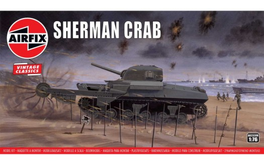 Airfix 1/76 Sherman Crab Medium Tank