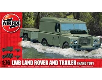 Airfix 1/76 LWB Hardtop Landrover w/Two-Wheeled Trailer
