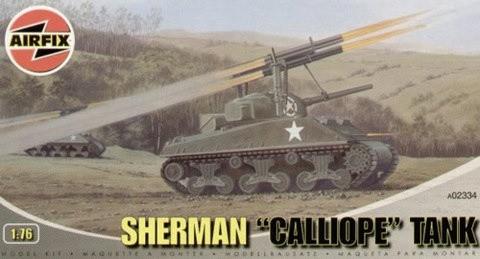 Airfix 1/76 M4 Sherman Tank w/Calliope Rocket Launcher