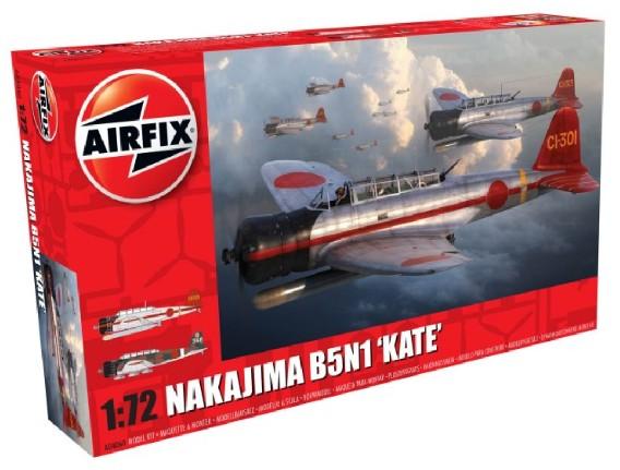 Airfix 1/72 Nakajima B5N1 Kate Torpedo Bomber Model Kit