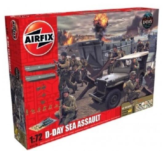 Airfix 1/72 D-Day Sea Assault Gift Set w/Paint & Glue