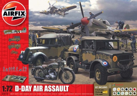 Image 0 of Airfix 1/72 D-Day Air Assault Gift Set w/Paint & Glue