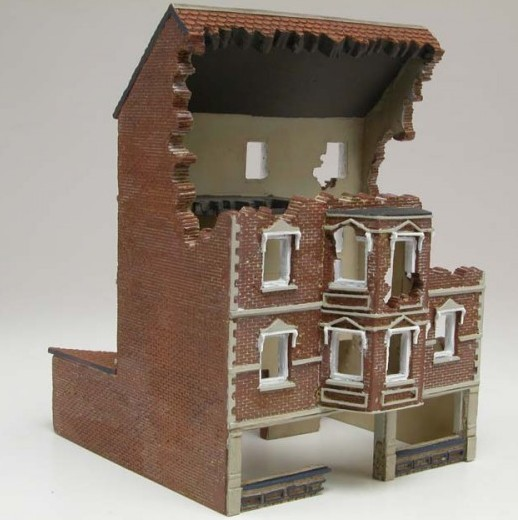 Image 0 of Airfix 1/76 European Ruined 4-Story Shop Resin Ready-Built Unpainted (D)