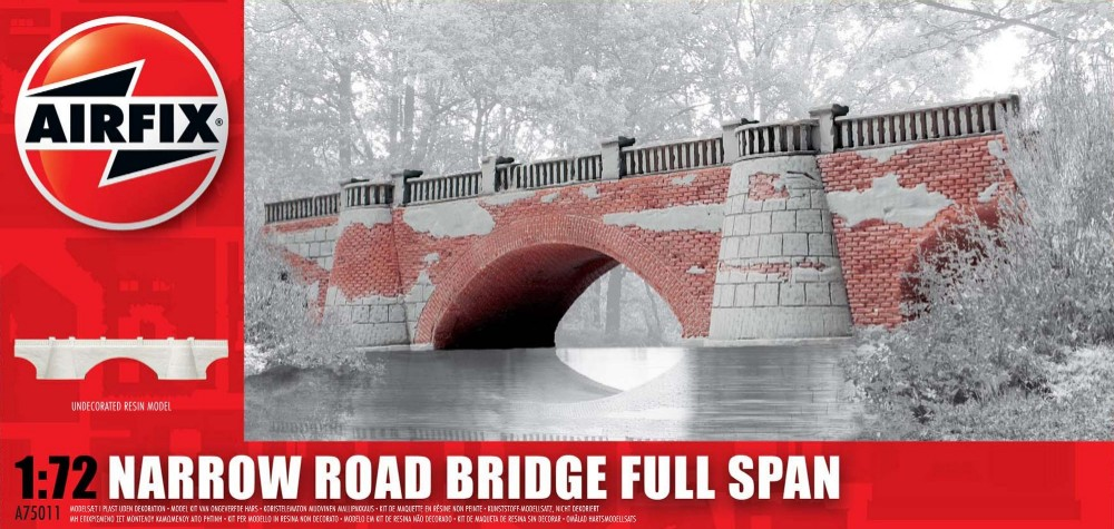 Image 0 of Airfix 1/72 Narrow Road Bridge Full Span Resin Ready-Built Unpainted (D)