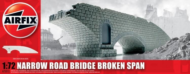 Image 0 of Airfix 1/72 Narrow Road Bridge Broken Span Resin Ready-Built Unpainted (D)