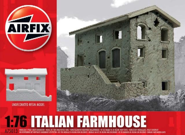 Image 0 of Airfix 1/76 Italian Farm House Resin Ready-Built Unpainted (D)
