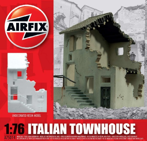 Image 0 of Airfix 1/76 Italian Townhouse Resin Ready-Built Unpainted (D)