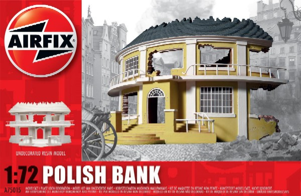 Image 0 of Airfix 1/72 WWII Polish Ruined Bank Resin Ready-Built Unpainted (D)