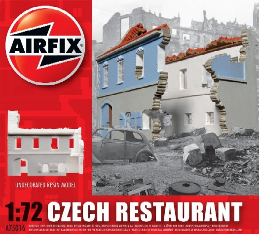Image 0 of Airfix 1/72 WWII Czech Ruined Restaurant Resin Ready-Built Unpainted (D)
