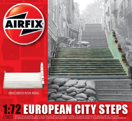 Image 0 of Airfix 1/72 European Ruined City Steps Resin Ready-Built Unpainted (D)