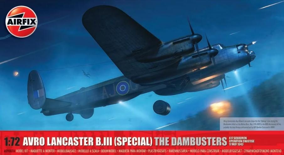 Airfix 1/72 Avro Lancaster BIII Dambuster RAF Bomber Model Kit